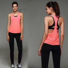 womens crop top 2016 Women Sports tank Top GYM tank Top Jogging Sport Wear Tank Top For Fitness Running