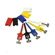 Free Shipping 10pcs 6 Colors : Red Black Yellow Green Blue White Test Hooks Clips for Logic Analyzers Logic Test Clip(China)