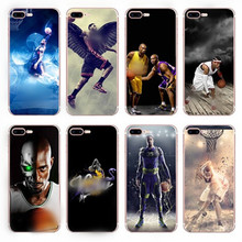 UVR basketball star tpu Silicone case For iphone 6 6s 7 5s case phone cases back cover bag mobile phone case gift Dust plug