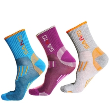 Buy 3Pairs/Lot SANTO Quick Dry Women Socks Cycling Sport Yoga Socks Outdoor Hiking Camping Trekking Coolmax Thick Thermosocks for $11.24 in AliExpress store
