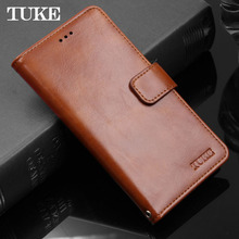 TUKE A77 Retro Oil Wax Leather Case For OPPO A77 Taiwan Version Case Flip Wallet Stand Back Cover A 77 Soft Silicon Phone Bags(China)