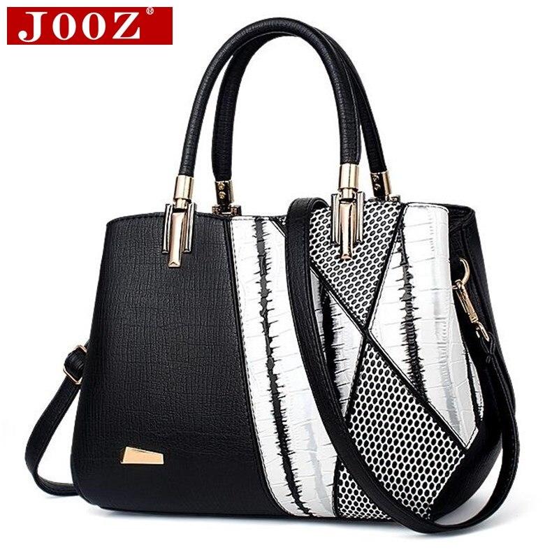 JOOZ Fashion Serpentine Woman Shoulder bags Famous Brand Design Women Luxury Leather Handbags Mujer Bolsas patchwork Hobos totes<br>