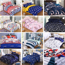1Set Bed Sheets New Cartoon Style Quilt Cover Jacket 4 Species Down Bedding Hot