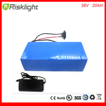 36v lithium battery 20ah  /  36v electric bike lithium battery  / 36V 20AH 1000W Electric Bicycle Battery with PVC case ,30A BMS
