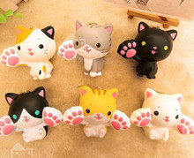 New Cute cartoon big claw cats squishy charm / mobile phone strap / Wholesale(China)