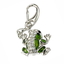 Free Shipping Diamond Cute Frog USB Flash Drive 32GB Pen Drive 16GB 8GB 4GB 128GB Pendrive Memory Crystal U Disk 32 gb for Gift