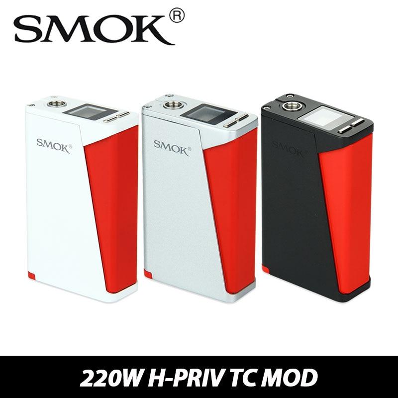 100% Original Smok H-PRIV 220W TC Box Mod e cigarette Temp Control Mod Top Screen Display VW/TC Modes Vaporizer Without Battery<br><br>Aliexpress