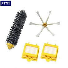 NTNT Free Post New Bristle Brush 6 armed & Filters for iRobot Roomba Vacuum 700 series 770 780 760(China)