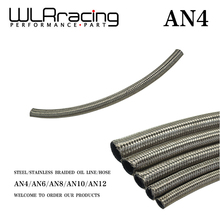 "WLRING STORE- AN4 4AN AN-4 (5.6MM / 7/32"" ID) STAINLESS STEEL BRAIDED FUEL OIL LINE WATER HOSE ONE FEET 0.3M WLR7111- 1"