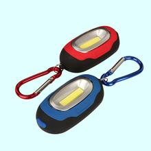 Mini COB LED Camping 3 Modes Torch Light Lamp Carabiner Portable KeyChain Outdoor Hiking Tool - Online Gym Store store