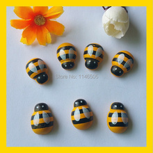14*19mm Wood honeybee stickers,120pcs/lot 3D Bumble bee sticker,Easter crafts and Scrapbook ,Fridge stickers