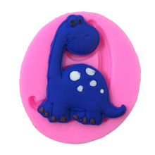 X057 Dinosaur shape Jelly sweets Bakeware mold Silicone Cake Mold Sugar Paste 3D Fondant Cake Decoration Tool soap mold