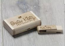Artworks  Wooden USB 2.0 Version memory flash stick Encord Custom logo.for wedding photography