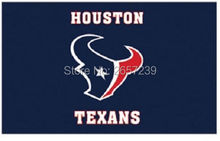 Houston Texans top design Flag 3x5FT NFL banner 100D 150X90CM Polyester brass grommets custom042, Free Shipping(China)