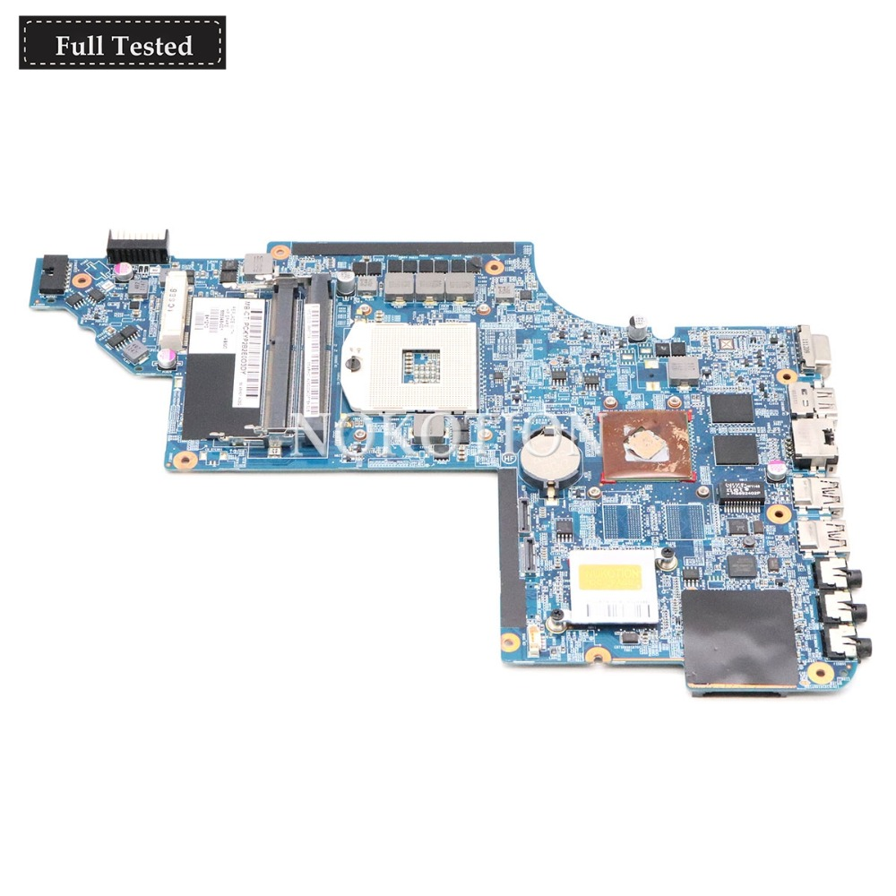 NOKOTION 665348-001 Main board For HP Pavilion DV6 DV6-6000 Laptop Motherboard HM65 DDR3 HD7400M Video card 100% Tested