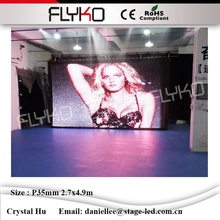 Size can be customized flyko led video curtain led video backdrops wall occupation of the world market P3.5cm 2.7m*4.9m(China)