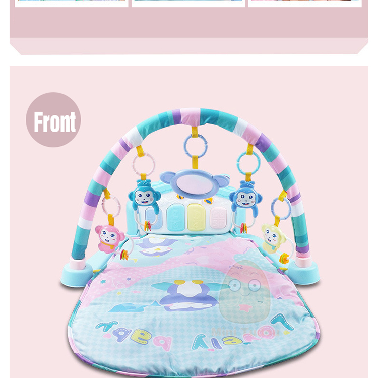 MiniTudou Baby Activity Play Mat Baby Gym Educational Fitness Frame Multi-bracket Baby Toys 0-12 Months Game Mats For Kids 8