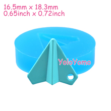 P392YL 18.3mm Paper Airplane Silicone Mold - Cake Decoration Craft, Fondant, Resin, Clay, Cookie Biscuit, Jewelry, Chocolate Wax(China)