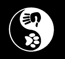 New Dog Decal Rescue Labrador Chinese Tai Chi Bagua Sticker for Car Window Truck Bumper Door Kayak Ying Yang Vinyl Decal China