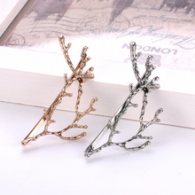 Yanqueens Vintage Antlers Design Exquisite Metal Hair Clips Women Satement Hairpins Hairwear Accessories Fashion Jewelry(China)