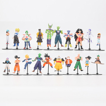 20pcs/set anime Dragon Ball Z toys GT Action Figures Crazy Party 10CM Cell Freeza son Goku PVC Dragonball Figures Best Gift