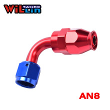 WILLIN - AN8 08AN PTFE Swivel Hose End Fitting Aluminum Straight 90 Degree Tube Adapter Teflon(China)