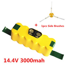 3000mAh New Battery Pack for iRobot Roomba560 530 510 562 550 570 500 581 610 770 760 780 790 880 Battery+1pcs Side Brushes