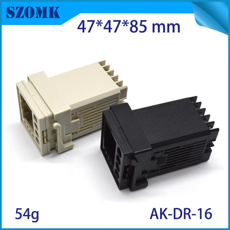 szomk plastic din rail enclosure PLC plastic box for electronics project instrument case junction box (1)