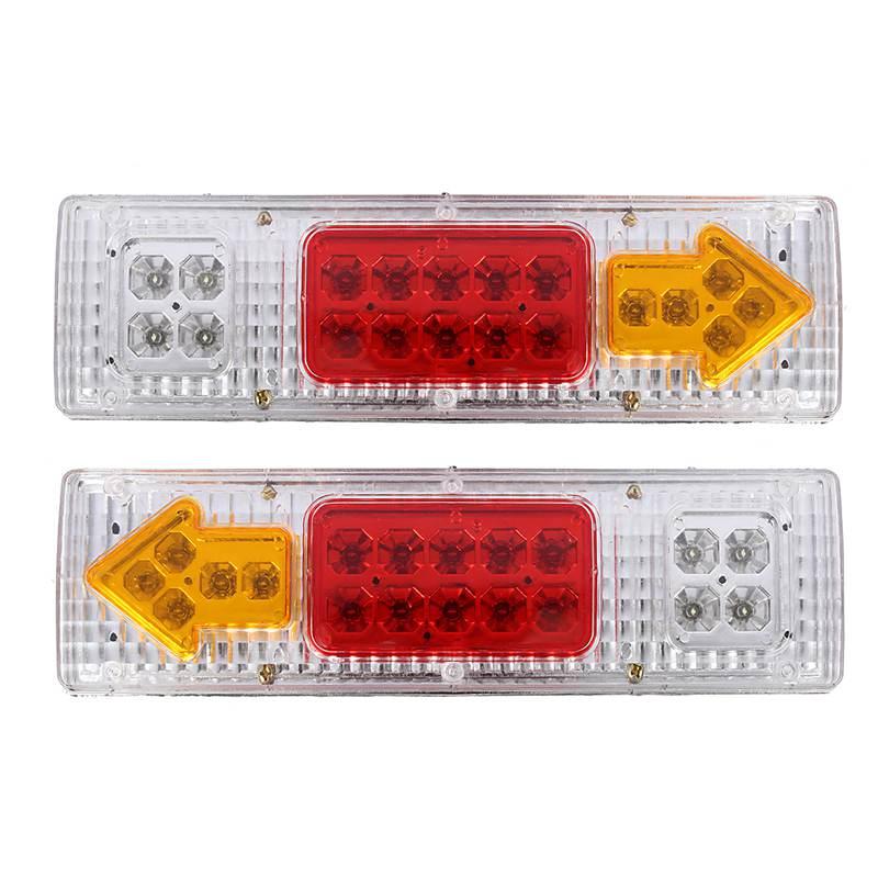2pcs 19 LED ATV Trailer Truck LED Tail Light Lamps Car Rear Lights Taillight Reversing Running Brake Turn Lights DC 24V<br><br>Aliexpress