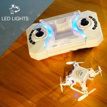 2017 New Mini Remote Control Quadcopter 127 2.4G 4CH 6-Axis Gyro RTF Foldable RC Drone 3D-Flip Headless Mode One-Key Return(China)