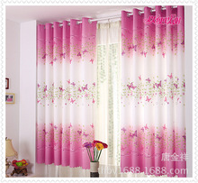 100x200 CM Beautiful Butterfly Curtain printed Finished Product Cloth Window Curtain Want To Give You A Warm Home(China)
