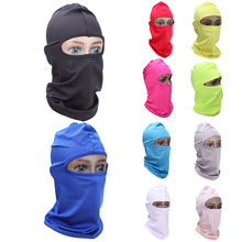 10 color Outdoor Full Face Mask Headwear Protector Lycra Balaclava For Ski Cycling Bicycle Bike Motorcycle Night Protect Face