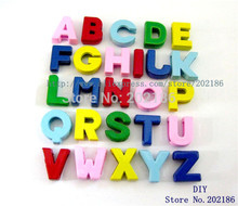 Wholesale 260pcs 8mm printing letters slide letters fit cell phone charms(China)