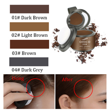 Hair Shadow Trimming Eyebrow Powder Cover White Color Brown Grey Black Hair Line Shadow Powder with Puff