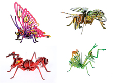 3d three-dimensional jigsaw puzzle animal cartoon insect Juvenile manual class recommended small production equipment