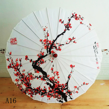 Oil-Paper Umbrella Blossoms Japanese Cherry Chinese-Style Silk Ancient