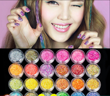 Wholesale Nail Powder Sequins Glitter Powder Gradient Light Therapy Plastic Powder Set Accessories Laser Glitter 10pack/lot