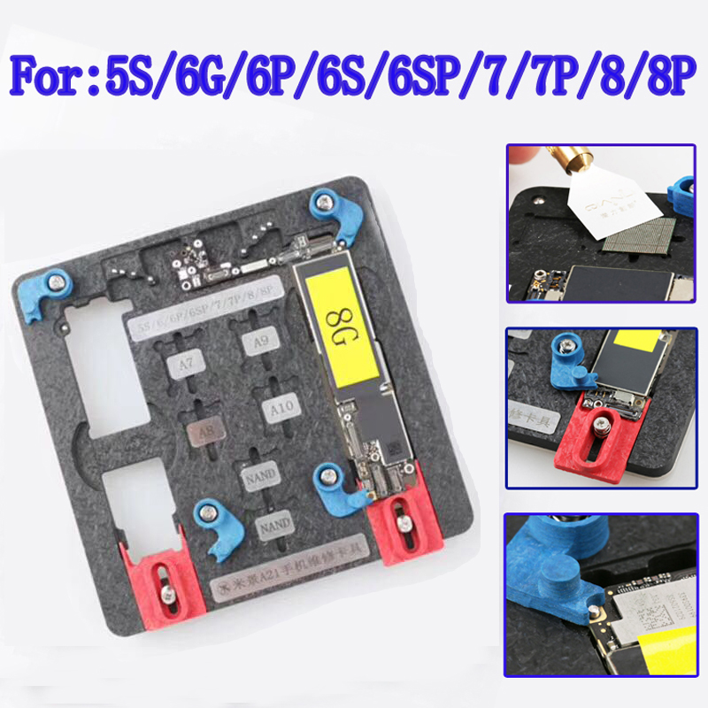Newest Circuit Board PCB Holder Jig Fixture Work Station for iPhone 8 7 6SP 5S Logic Board A8 A9 A10 Chip Repair Tool<br>