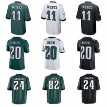 Philadelphia 2017 High quality Men's Brian Dawkins Corey Graham Torrey Smith Carson Wentz Game eagles jerseys(China)