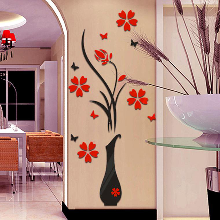 HTB14oAJRFXXXXXAXXXXq6xXFXXX7 - 80CM*40CM DIY Home Decor Vase Simle Flower Tree Posters Decoration Crystal Arcylic 3D Wall Stickers Decal Home Decor For Home