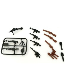 World War II machine gun AK gun Weapons Original Toy Swat City Police Military Weapons Accessories Compatible lepin mini figures