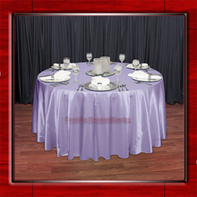"Lilac 108"" Round Shaped Poly Satin Table Cloth /Banquet Tablecloths/Table Linen/  For Wedding Party Decorating"