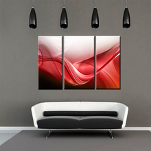 Modular Wall Paintings Red Abstract Color Canvas Print Poster Oil Painting for Bedroom Living Room Home Wall Art Decor Unframed