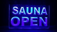 SAUNA OPEN Pub Beer LED Neon Light Sign home decor