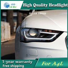 Car Styling Head Lamp case for Audi A4L 2013-2016 Headlights LED Headlight DRL Lens Double Beam Bi-Xenon HID car Accessories(China)
