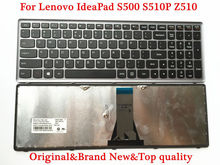 Original Laptop Keyboard for Lenovo Ideapad S500 S510P Z510 Keyboard US Layout Gray Frame Brand new Top quality 90days warranty