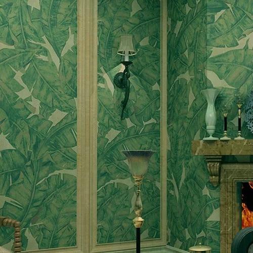 Classic  Green  Big Banana Leaves Wallpaper Roll 10m Wall Decor Living Room DZK37<br>