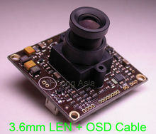 "EFFIO-A 1/3"" Sony Super HAD CCD ICX810 ICX811 image sensor CXD4151 CCTV camera module PCB board with OSD cable + LEN(China)"