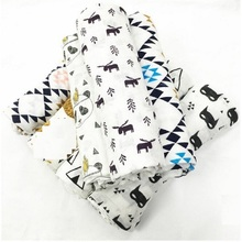 Mirale Baby Summer 100%Muslin cotton Single layer baby towel newborn blanket baby swaddle infant wrap 120x120cm 180g(China)