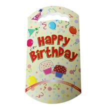 "Paper Party Gift Loot Bags Candy Food Yellow Cake ""Happy Birthday"" Pattern 24.7cm x 13.6cm ,10 PCs 2015 new"